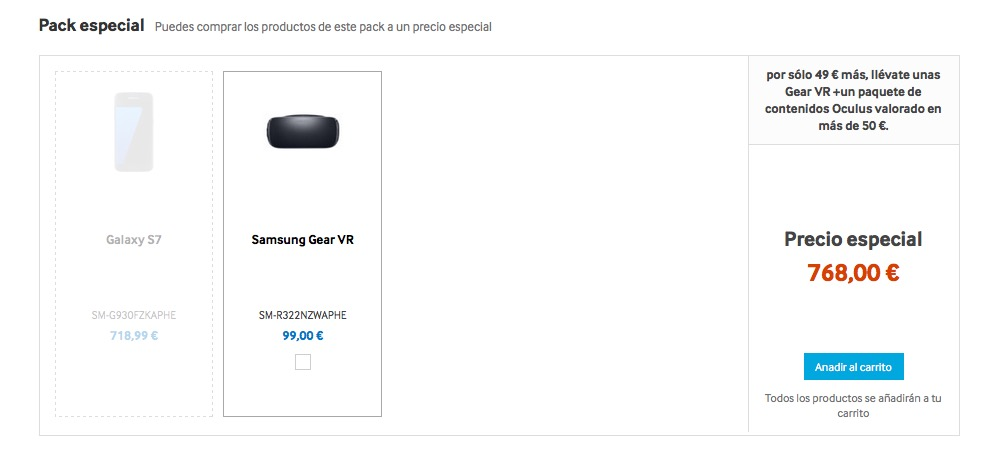 Pack Samsung Gear VR