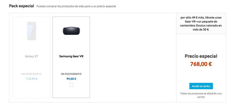 Pack Samsung Gear VR