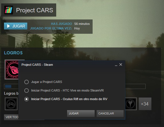 Project Cars VR Steam