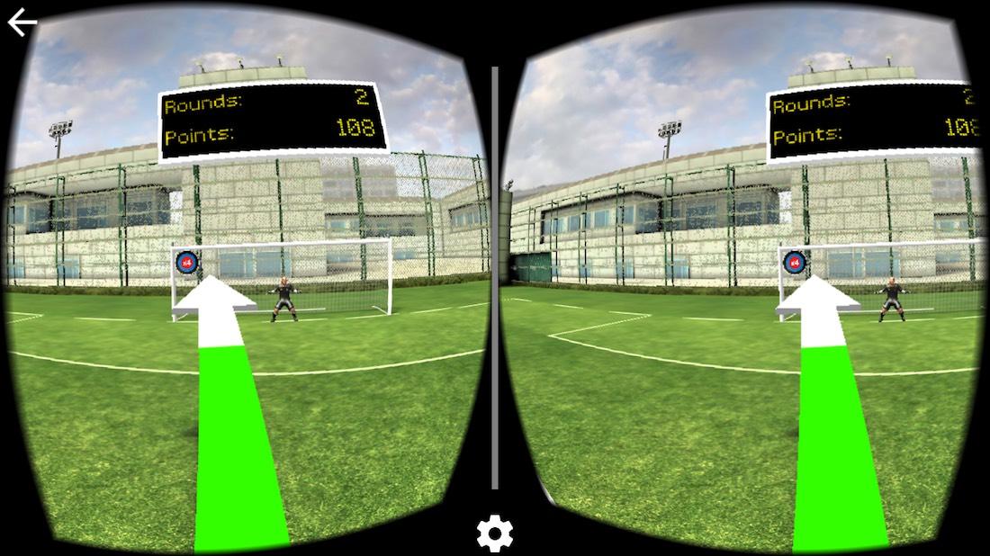 Final Kick VR ingame