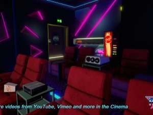 New Retro Arcade Neon Cine