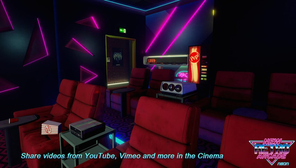 New Retro Arcade Neon Cine