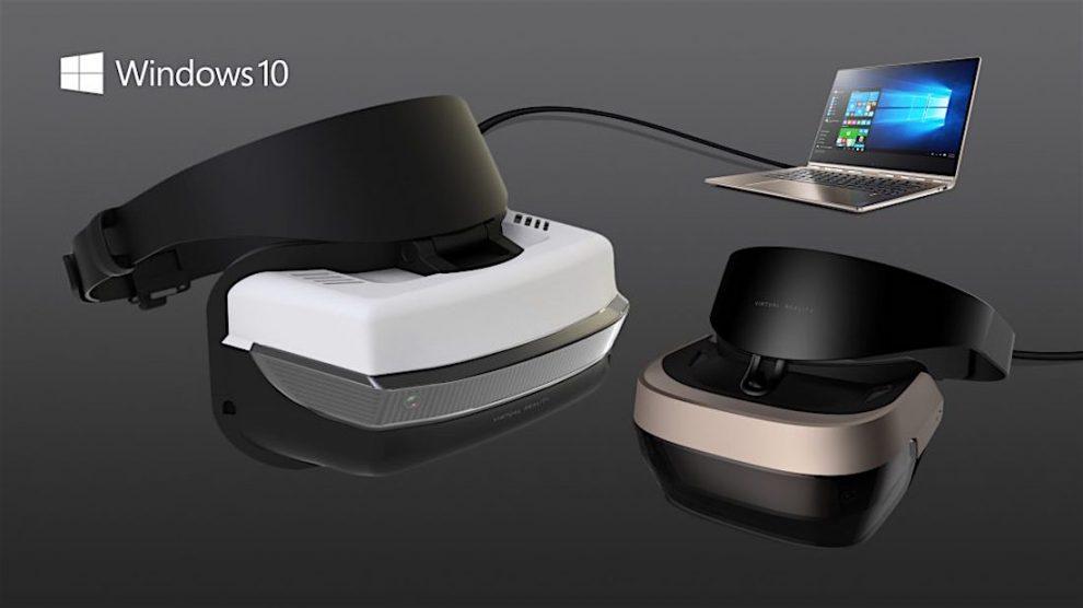 Microsoft Windows 10 visor RV VR