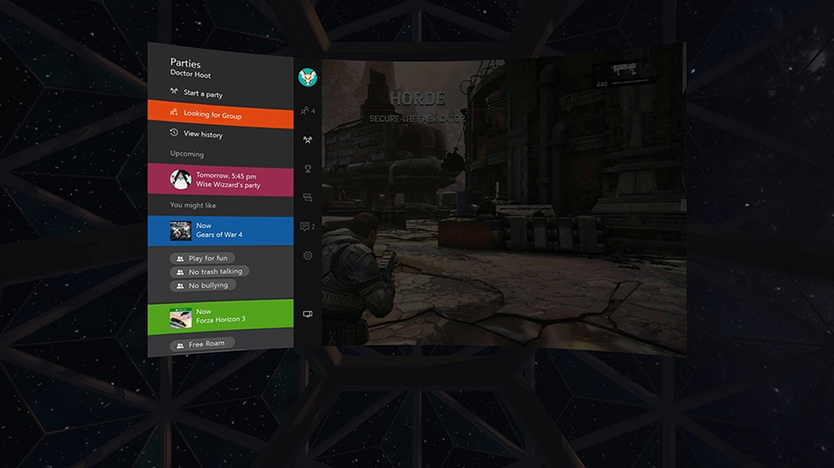 Xbox One Streaming to Oculus Rift