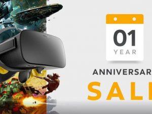 Primer aniversario Oculus Rift - Rebajas juegos